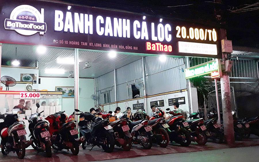 Quán bánh canh cá lóc Quảng Trị mang thương hiệu BaThao